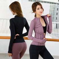 Yoga suit autumn winter fitness kit womens sports morning running long-sleeve net red-speed dry professional fashion beginner tight