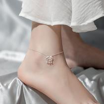 S925 серебряный длинный жизненный замок античный Feng Sen ножной браслет для женщин сексуальный простой студент личность темперамент сеть красный украшения для ног