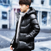 2017 new winter coat male trend of Korean winter winter clothing leather coat thick jacket cotton seed