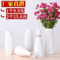 Vase en céramique petit frais hydroponique verre transparent fleur simple Blanc Moderne Nordique Salon Décoration de la maison décoration