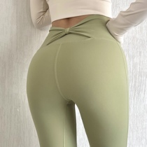 Summer thin yoga pants for women high waist and hip lifting breathable elastic tights sports running peach-butt fitness pants