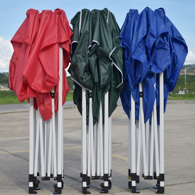 Outdoor stalls with tented rain shelter rain-proof four-foot folding awning umbrella four-corner telescopic shed