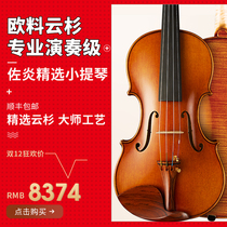 The import of European materials Italian Spruce melon Type Professional Master independent playing handmade violin delivery box