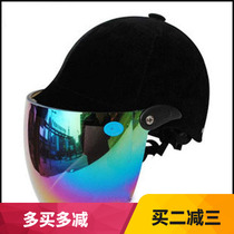 永盛牌男女式防紫外线镜夏盔马术头盔骑马头盔摩托电动车秋冬半盔