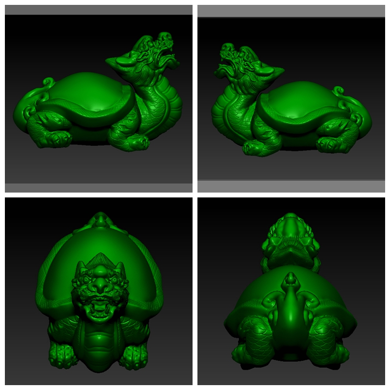 Fine carving 3D solid 3D STL round carving jade carving wood carving tortoise carving FIG. 15
