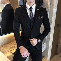 Mens Korean version of the young handsome British wind suit suit