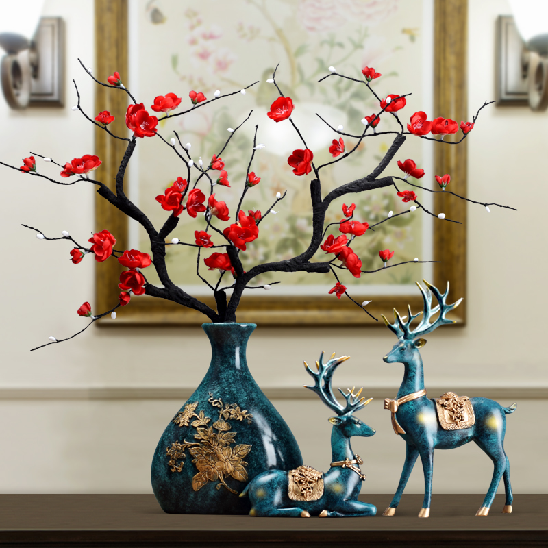 Creative ornament European vase three piece household furnishing in the newly married room, living room, TV cabinet, porch decoration gift