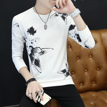 Korean thin t in the fall and handsome wool base shirt