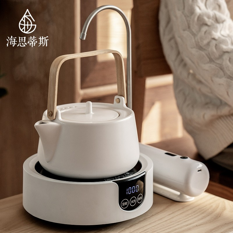 Hestis Home Office high-end small all-in-one tea maker electric pot Japanese glass kettle set