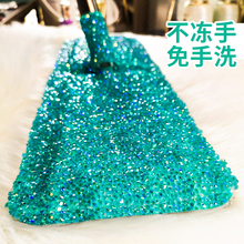 Free hand washing flat mop, household ceramic tiles, dragging, rotary, dry, wet, dual-use, lazy man, floor dragging device, mop