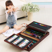 Childrens brush set pupils painting tools art learning supplies painting watercolor pen gift box birthday gift