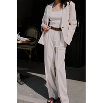 Rosebanks Southern French tone classic good version of French blogger Cream white double pleated trousers Casual trousers