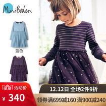Miniboden British Direct Childrens clothing 2018 autumn Winter girl long sleeve knitted dress