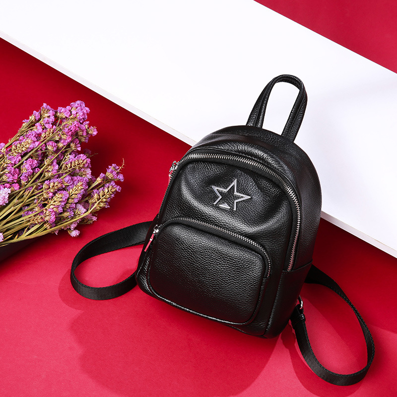 Backpack female small 2018 new leather suede leather backpack ladies Korean version of the wild fashion soft leather bag tide