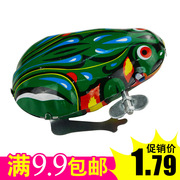 Nostalgic classic toys 80 90 top toy iron frog jumping frog wound children baby toys