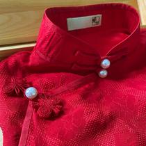 Feish home custom to customize the Flower Cheongsam fabric silk fabric ancient method hand-made custom