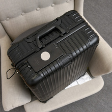 All metal aluminium magnesium alloy rod box universal wheel her red suitcase 20 and 29 inches business luggage hard