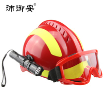 Planet Royal Security Rescue Helmet Outdoor rescue emergency Blue Sky Rescue protection kit with goggles and strong light flashlight