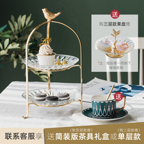 European-American coffee table decoration candy tray cake tray Crystal fruit plate creative modern fruit plate living room home