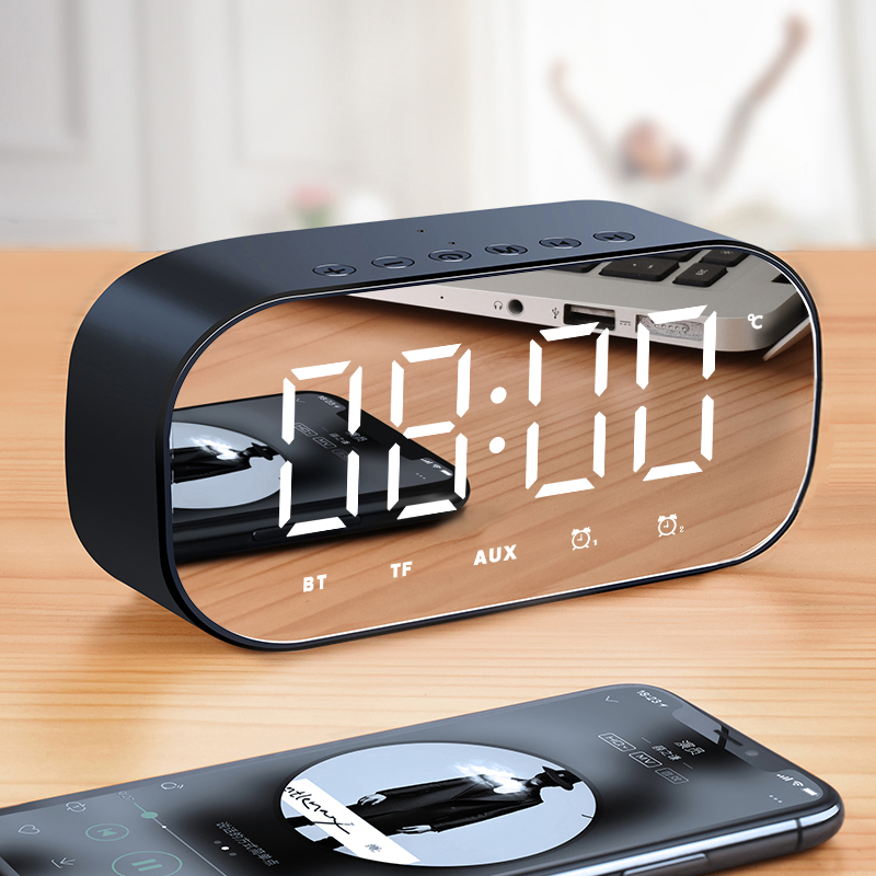 H8 wireless Bluetooth speaker, home subwoofer, mobile phone, mini alarm clock, Bluetooth small stereo, portable small 3-D, surrounded by large volume and lovely girl's influence