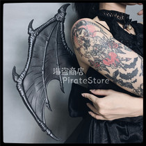 Dark wing Lolita devil wings black leather texture devil Meow Pinkholy dark gothic girl