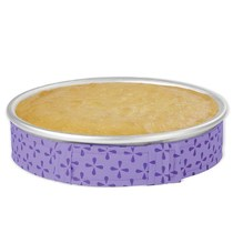 Easy Clean Cake Pan Stripes Bake Even Strip Belt Moist Level.