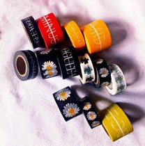 Kangzhirong the same daisy PMO sticker DIY packing tape multifunctional mobile phone decorative tape Tide brand Alphabet sticker