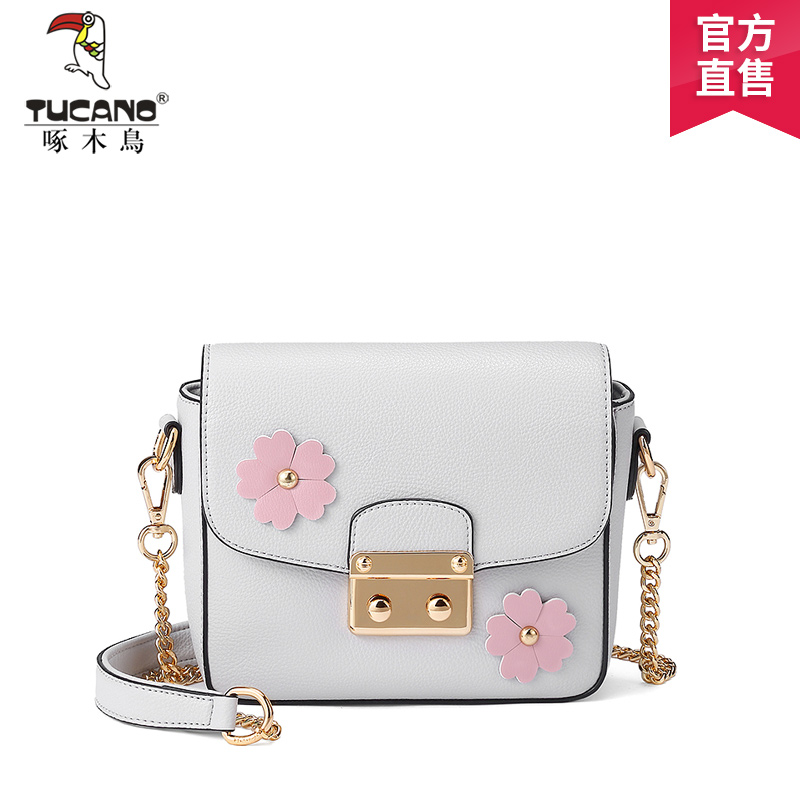 Woodpecker bag 2017 trend new Korean version of the elegant chain small square bag fashion lock single shoulder Messenger bag