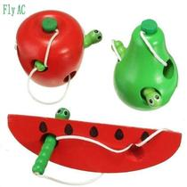fly ac montessori educational toys fun wooden toy worm eat f