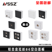 Baggage 1/2/4 Hole Black-Silver 86 Blank Panel D Type Audio-Video Wall Information Box Blind Power socket