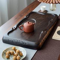 Малый мост поток воды весь блок черного чайной тарелки твердой древесины бытовой простой дренаж кунг-фу чай набор размер линии облако воды