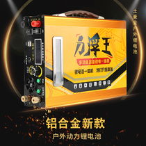 New lithium battery 12v bulk high power outdoor ultra light battery polymer Large capacity inverter all-in-one machine