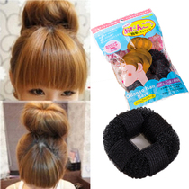 Korean Donuts Princess head meatballs Oracle Japanese bud head disc hair Device fluffy sticker styling tool