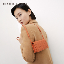 THE CHARLES-KEITH2020 Hiver Nouveau CK6-10840215 Ladies Weaving Bag Face One Shoulder Bag Wallet