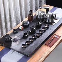 The whole set of Wu Jinshi tea set Household Gongfu tea tray Living room simple purple sand atomized water tea table automatic