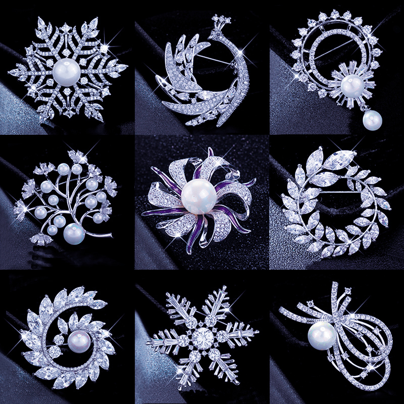 South Korean brooch high-end womens atmospheric luxury ins trendy personality brooch pin badge gift Christmas accessories