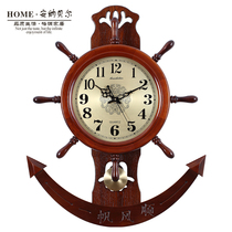 china wind rudder clock watch chinese creative living room table atmosphere silent wood art personality retro