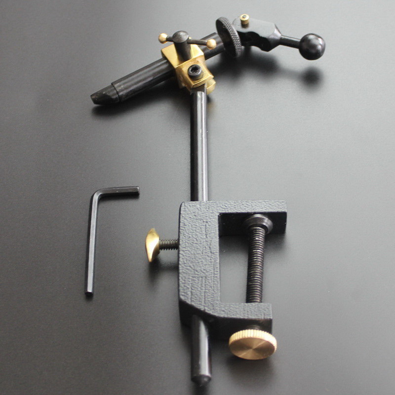 Mayweather intermediate stainless steel fly hook table can rotate fly fishing tie clamp JIG hook table