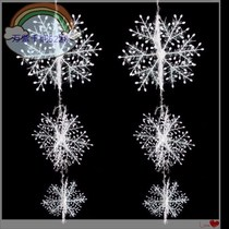 New Christmas decoration Christmas decoration snowflake door paste three-dimensional snowflake string ornaments