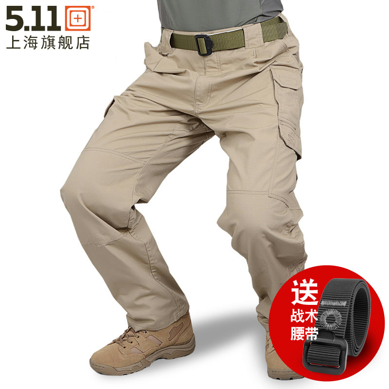 US 5.11 men's outdoor pants 511 tactical pants polyester cotton trousers 74273 plaid fabric overalls casual pants