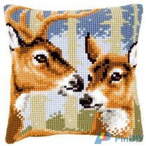Cross stitch redraw electronic diagram source file Vervaco PN-0021846 pillow-double deer