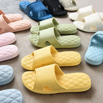 Comfortable and easy to wear non-slip silent silver ion couple ten colors optional Japanese men and women home lightweight non-slip slippers