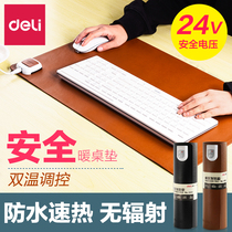 Powerful computer warm hand desktop heating Pad office Home heating warm table pad blanket electric plate soft table