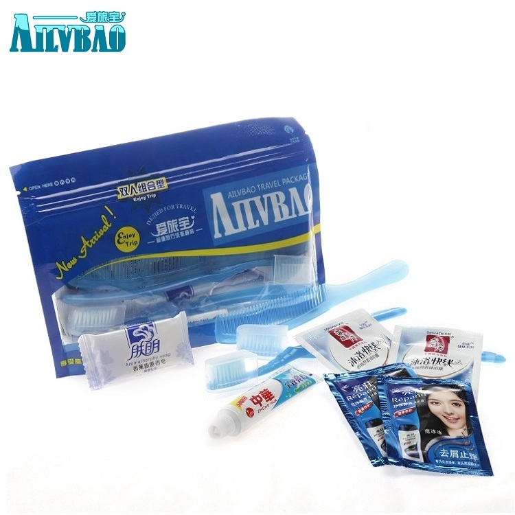 Alibao Dual Toothbrush Toothpaste Six in One Washing Set Hotel Disposable Products Manufacturer