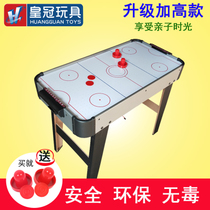 Crown Childrens Air ball hockey table with electric suspension table ice hockey machine Desktop Hockey birthday present