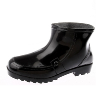 Four Seasons thickening warm water shoe single rain shoes mens boots middle barrel rain boots mens shoes spring and Autumn short barrel &; Boots water Shoes