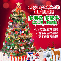 Luxury encryption home 1.5 meters 1.8 meters 2.1 Christmas tree package for Christmas decorations size 60cm