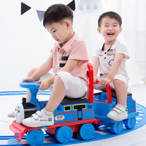 Yue Cheng Thomas small locomotive set rail car electric car childrens toy boy 1-3 years old can sit 4