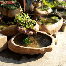 Outdoor fish tank natural stone pebble Fish Pond courtyard Landscape waterscape natural stone water fountain stone cylinder pool