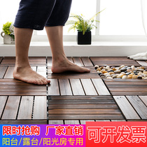 Anticorrosive Wood Flooring carbonized solid wood waterproof courtyard outdoor outdoor terrace sauna with balcony wood flooring material